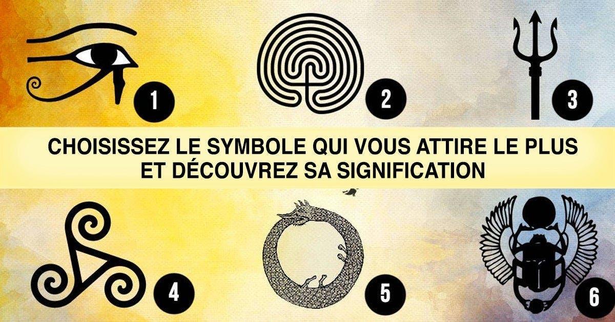 Choisissez le symbole qui vous attire le plus et découvrez ce qu'il dit de votre personnalité