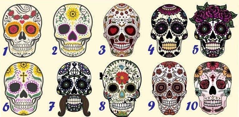 Choisissez une tête de mort pour découvrir quel genre de personne vous êtes