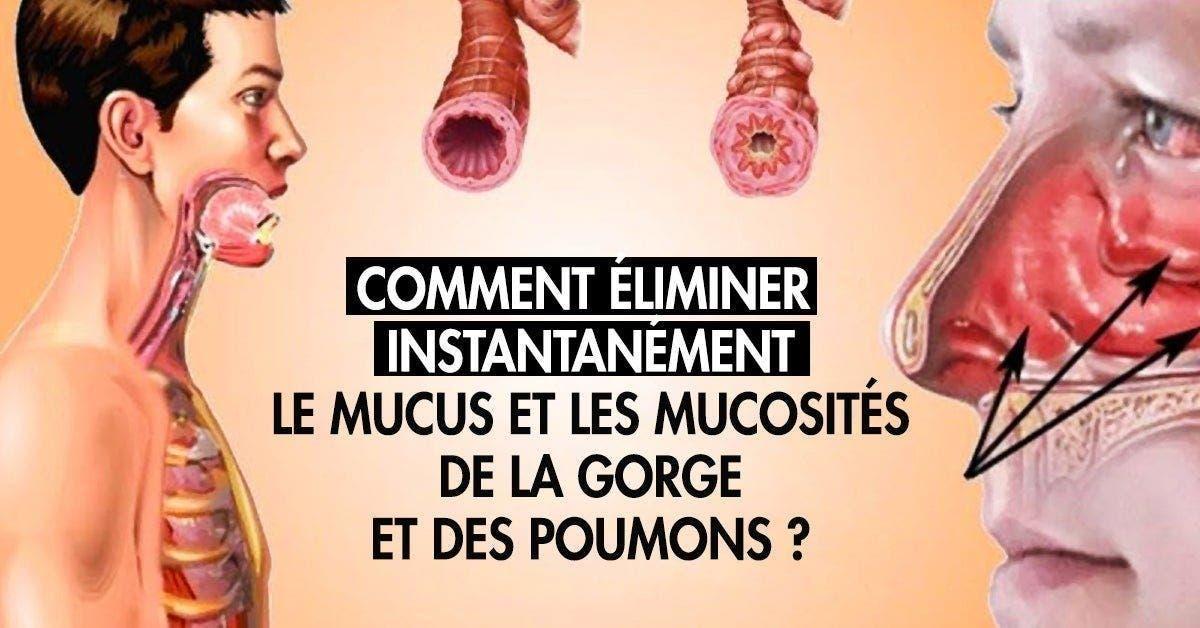Voici comment éliminer le mucus et les mucosités de la gorge et des poumons