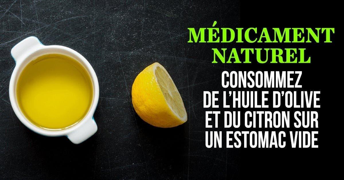 4 choses qui se produisent lorsque vous consommez du citron et de l'huile d'olive à jeun