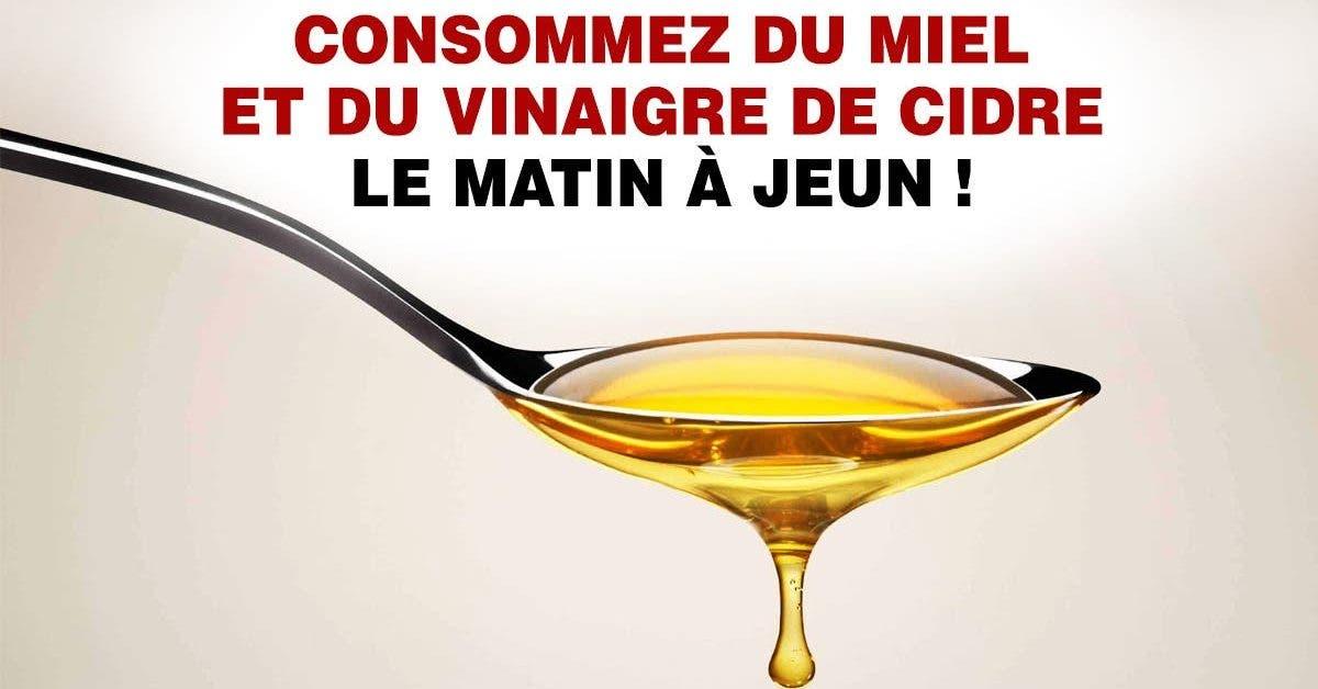 Consommez du miel et du vinaigre de cidre le matin à jeun