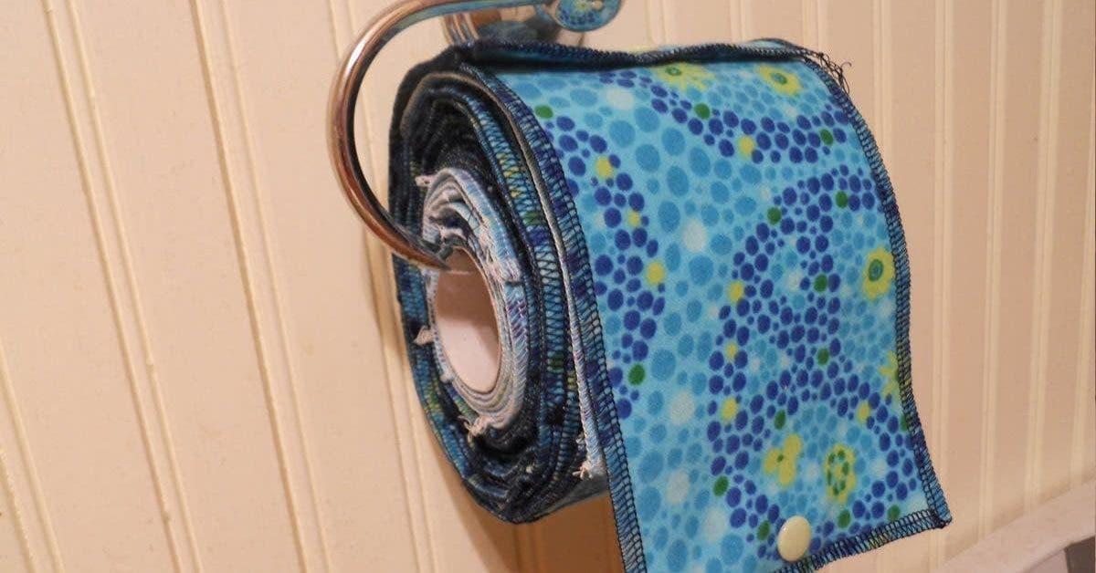 De plus en plus de personnes remplacent le papier toilette par un chiffon familial reutilisable 1
