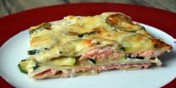 Délicieuses lasagnes au saumon et aux courgettes