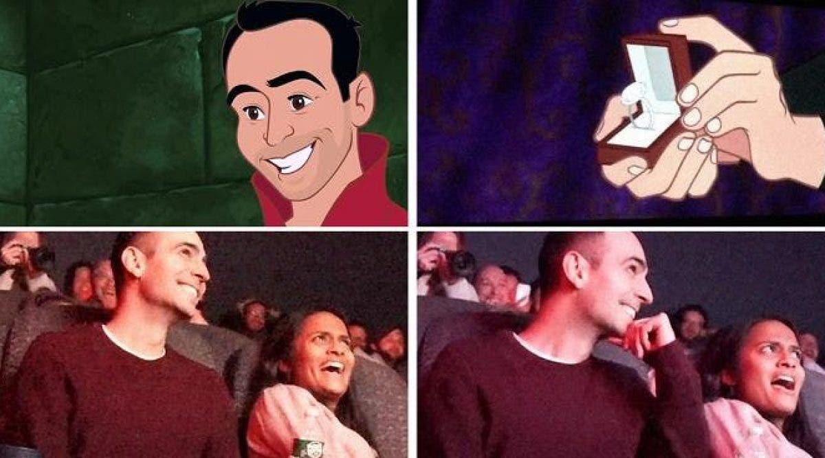 Il détourne le dessin animé Disney préféré de sa petite amie pour faire sa demande en mariage dans une salle de cinéma