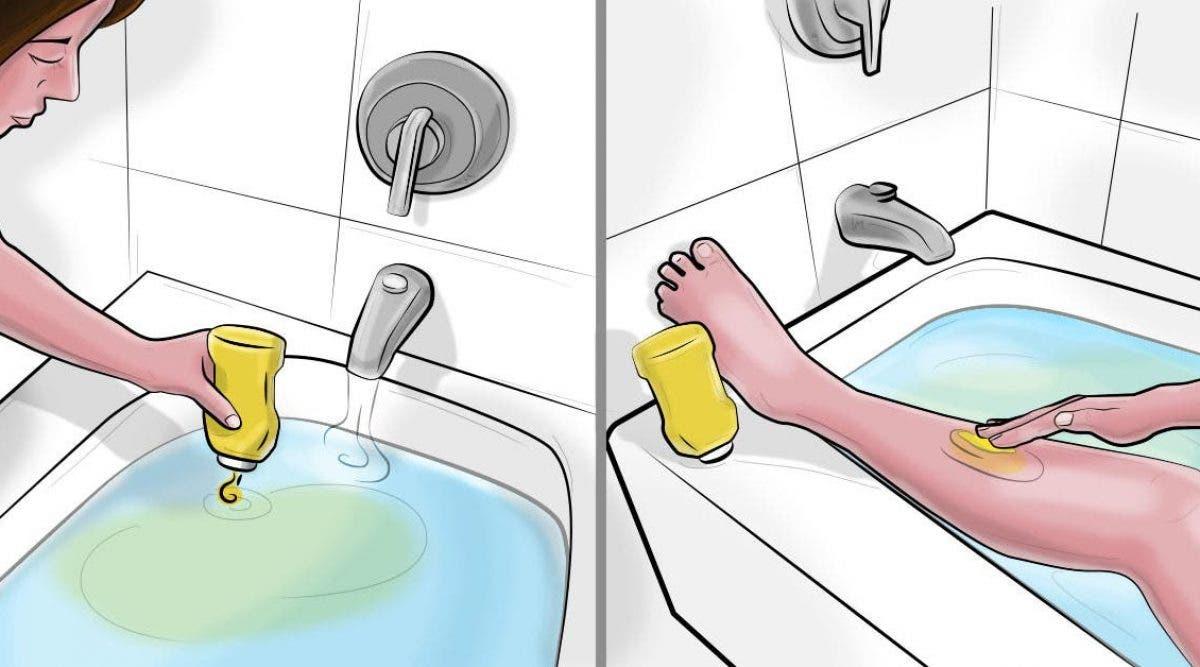 Elle met de la moutarde dans le bain