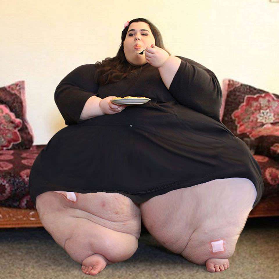 She weighed 300 kilos