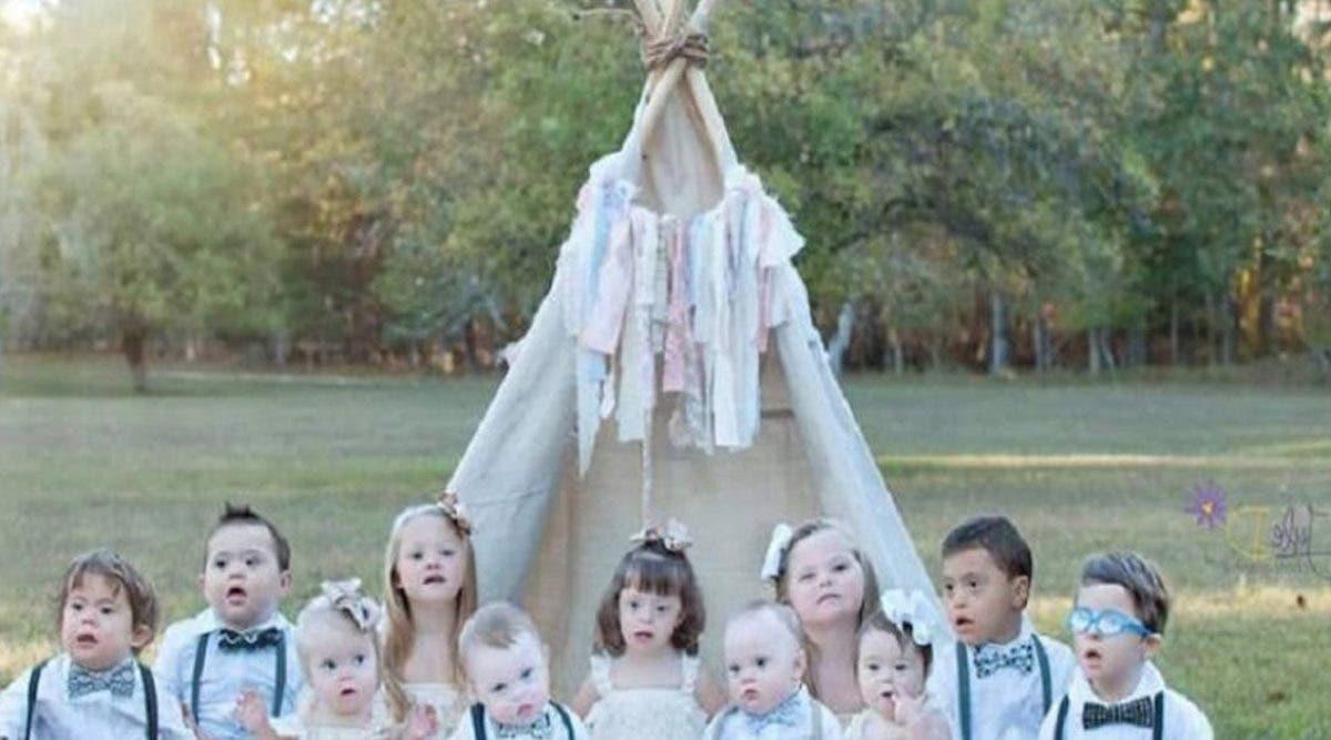 Elle rassemble 11 enfants atteints de trisomie 21 pour révéler leur vraie beauté pendant une séance photo