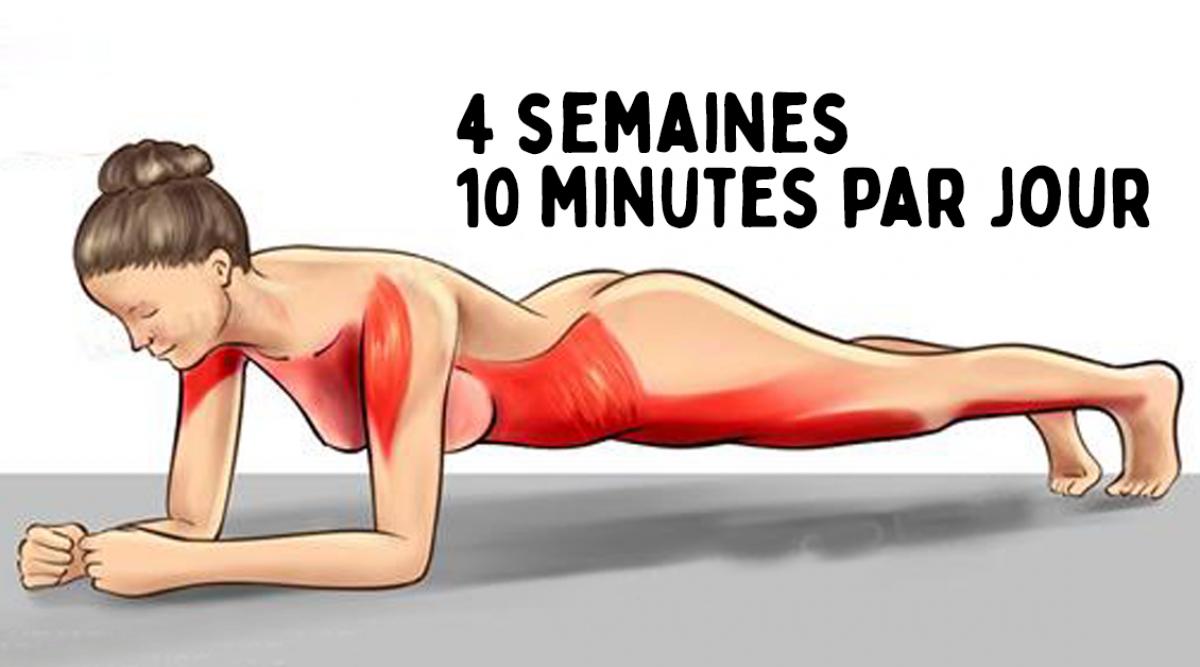 Transformez votre corps en 4 semaines avec ces cinq exercices simples