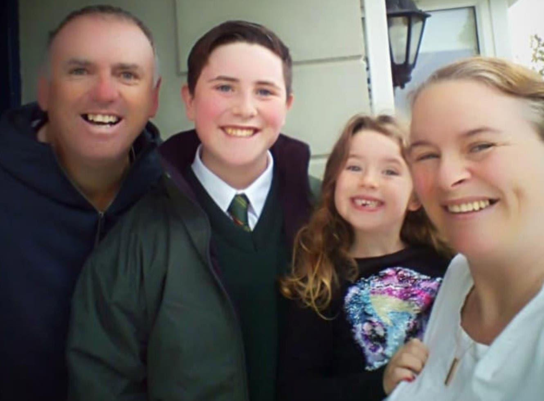 Geraldine Mullin et sa famille