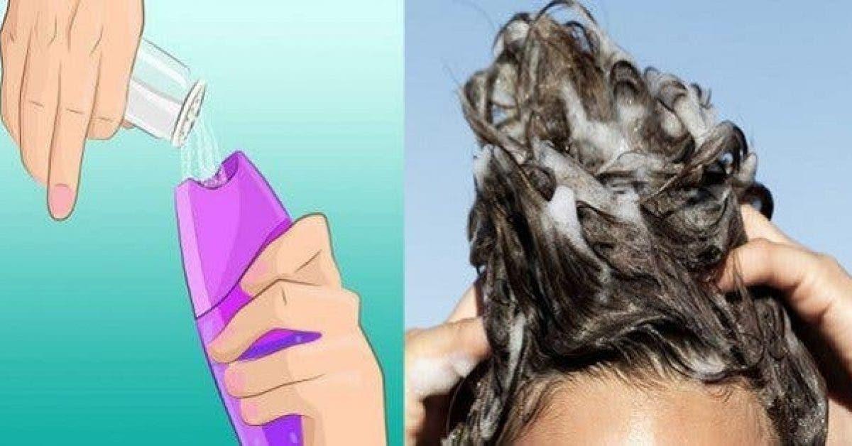 Il faudrait mettre du sel dans votre shampooing