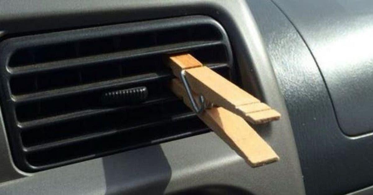 Il fixe toujours une pince a linge sur la grille daeration de sa voiture. La raison Incroyable 1