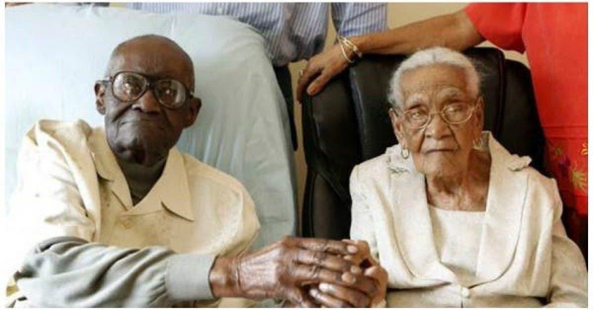 Ils ont a eux deux 213 ans – le mari en a 108 la femme 105 et ils fetent leur 82e annee de mariage 1