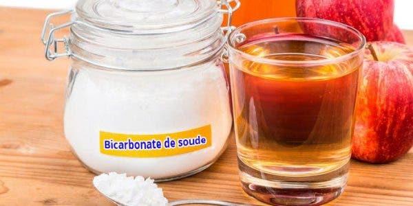 J'ai mélangé du bicarbonate de soude au vinaigre de cidre