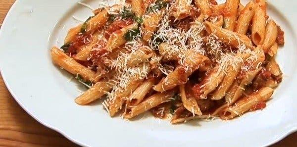 drain the pasta