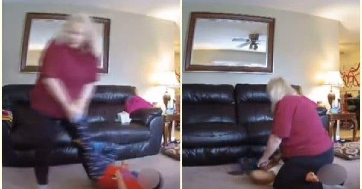 La baby sitter a traine un enfant de deux ans par terre et sest assise sur son visage pour lui changer ses vetements 1