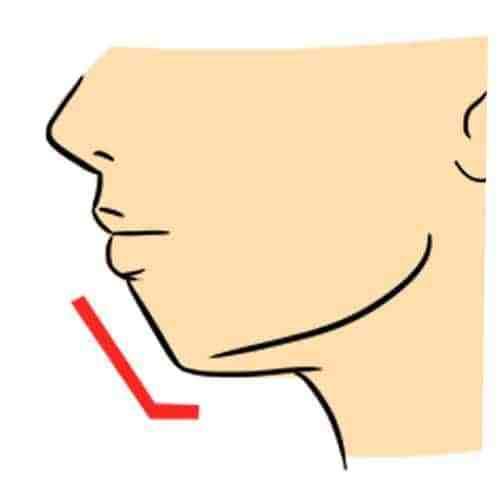 La forme de votre menton