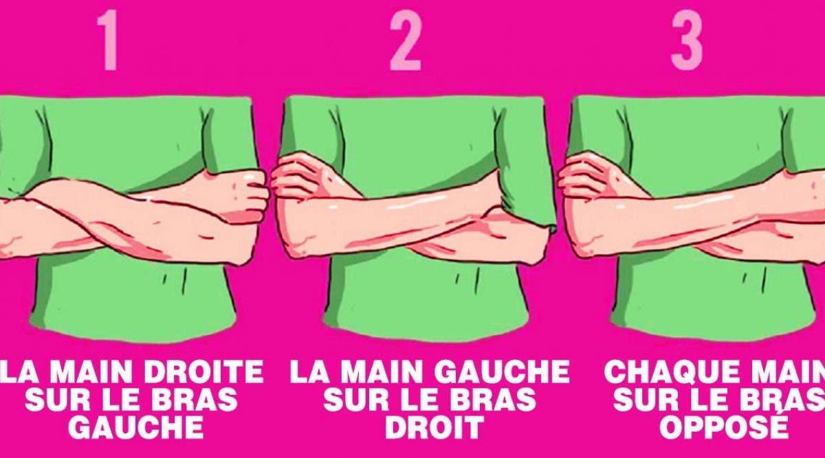 La manière de croiser vos bras en dit long sur votre personnalité