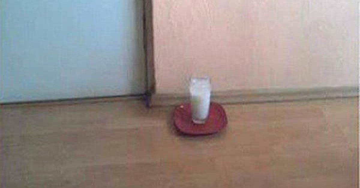 Laissez ceci dans un verre sans votre maison 1
