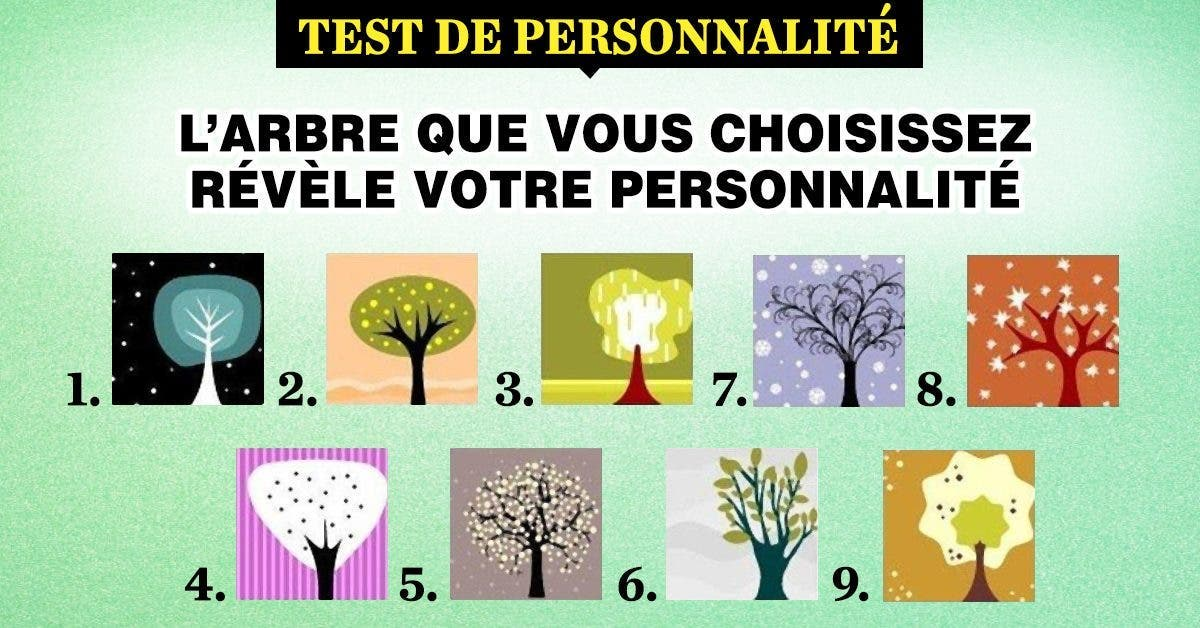 arbre que votre choix révèle votre personnalité