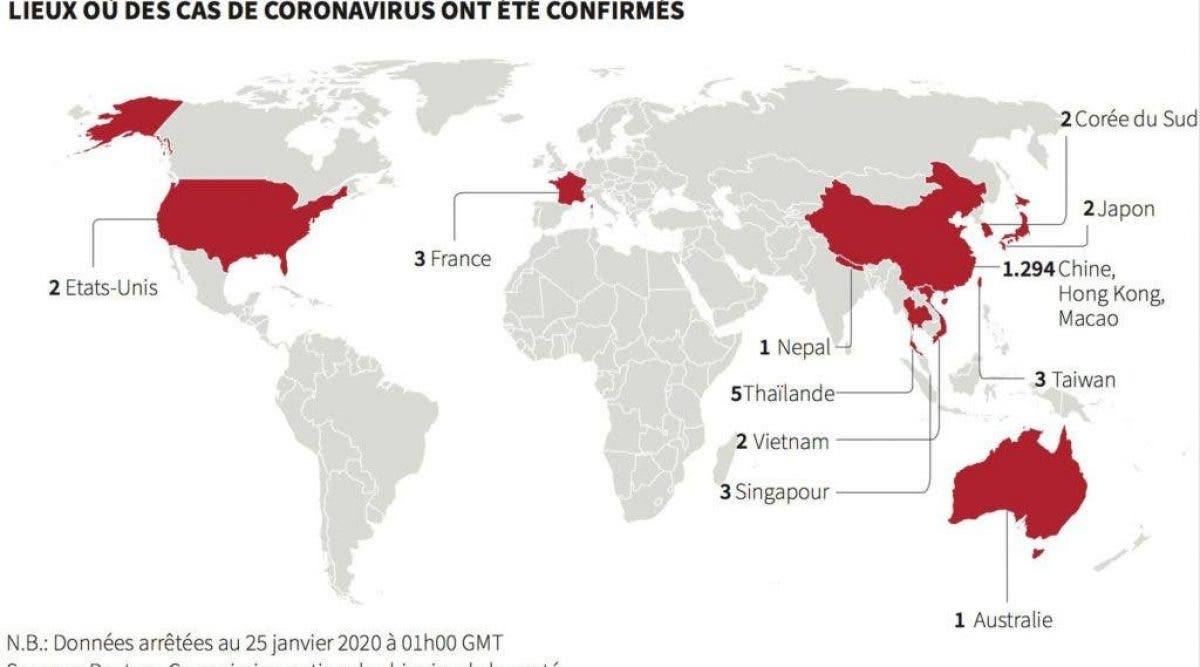 Le Coronavirus a touché la France et risque de faire des ravages dans le monde