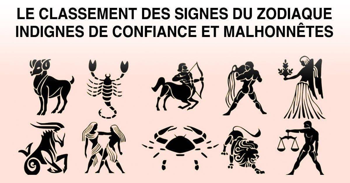 Voici le classement des signes du zodiaque indignes de confiance et malhonnêtes