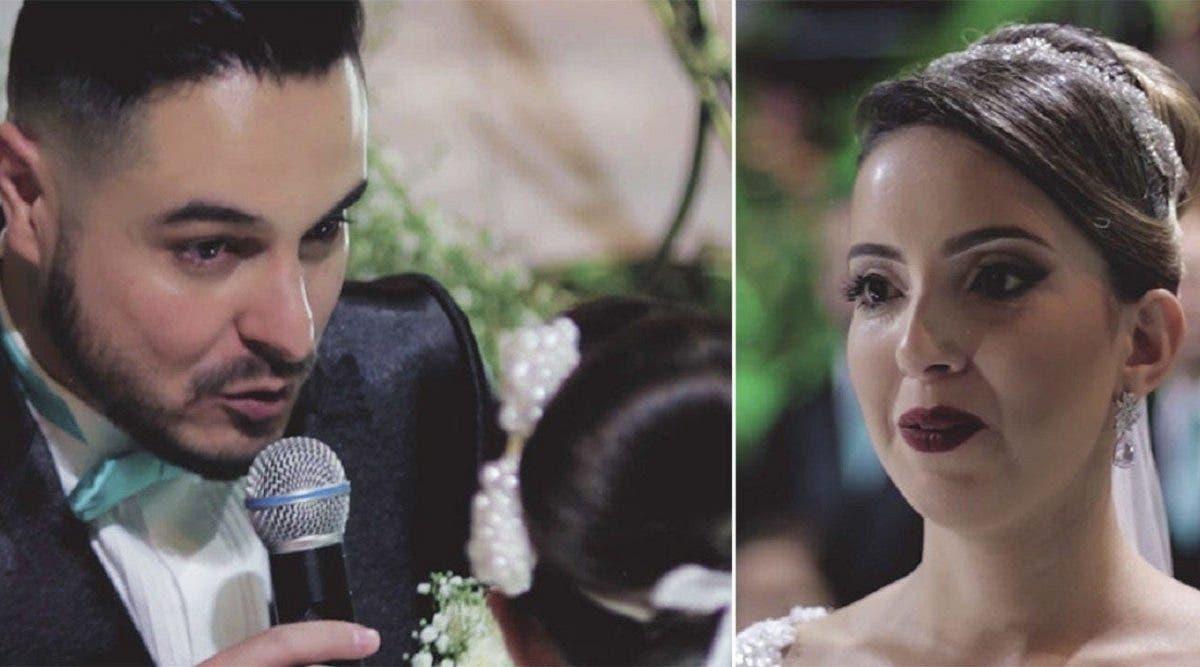 Le marié avoue qu'il aime quelqu'un d'autre montre du doigt une invitée et fait pleurer sa femme