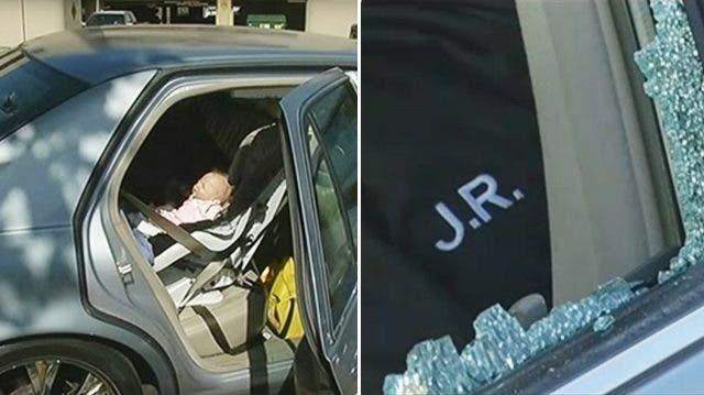 Le policier ouvre la fen tre de la voiture pour sauver un for Jonas ouvre la fenetre