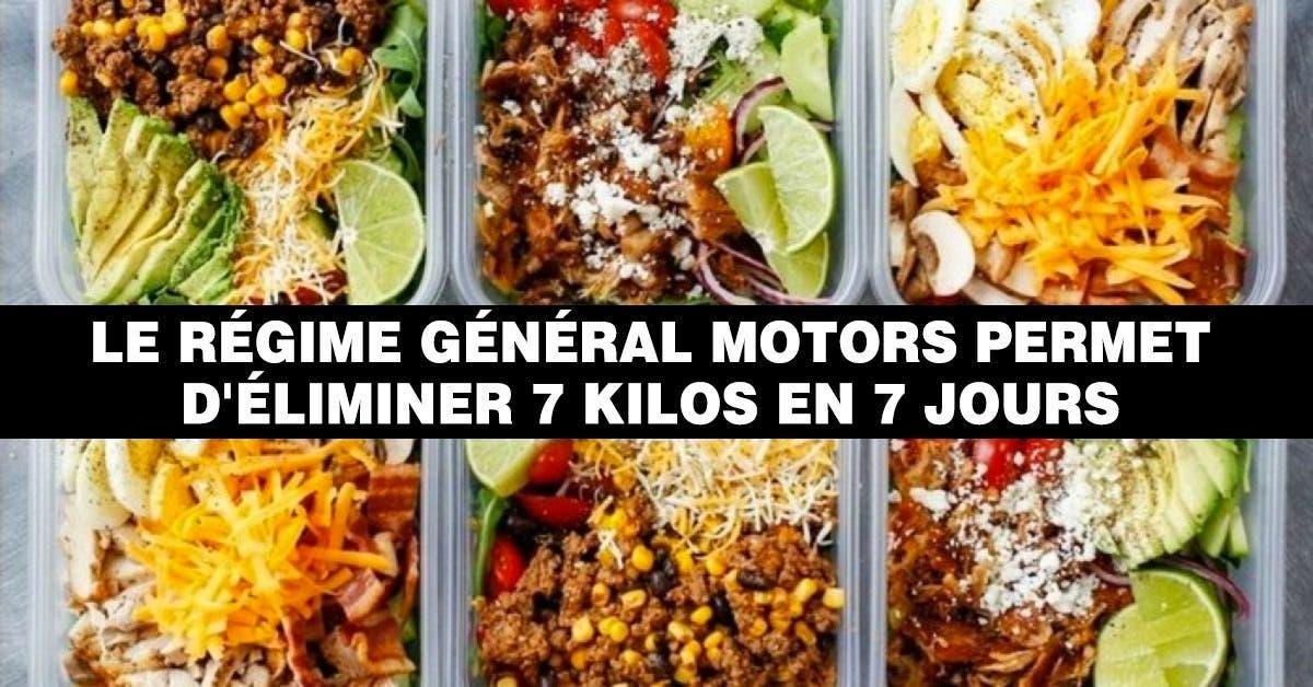Le régime Général Motors permet de perdre 7 Kilos en 7 jours