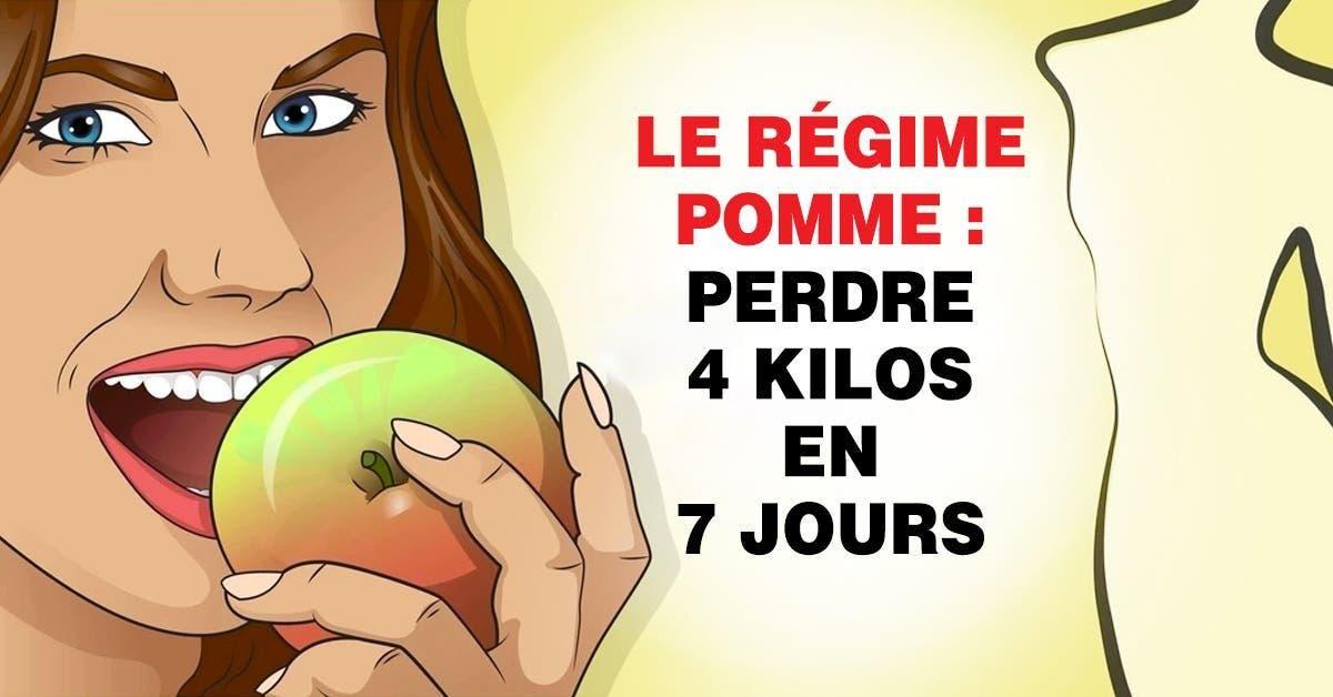 Le regime pomme perdre 4 kilos en 7 jours