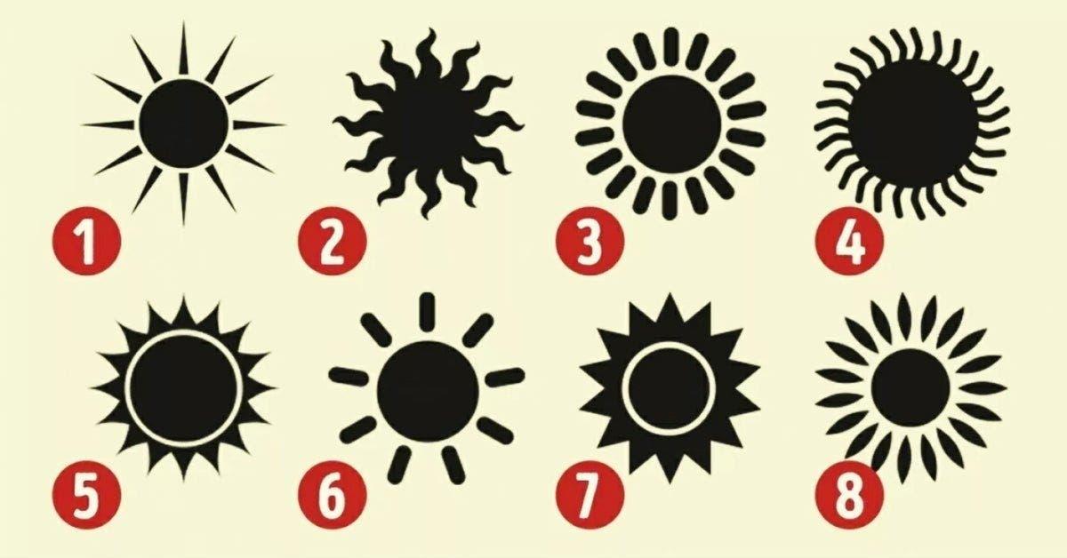 Le soleil que vous choisirez révèlera de belles choses sur votre personnalité 1 1
