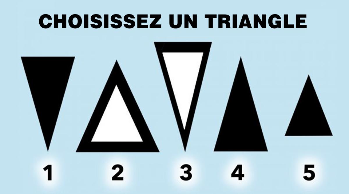 Le triangle qui vous attire le plus révèle des vérités sur votre personnalité