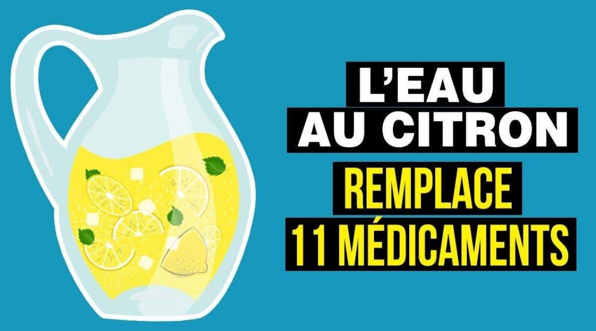 eau au citron est un médicament naturel qui soigne 11 maladies