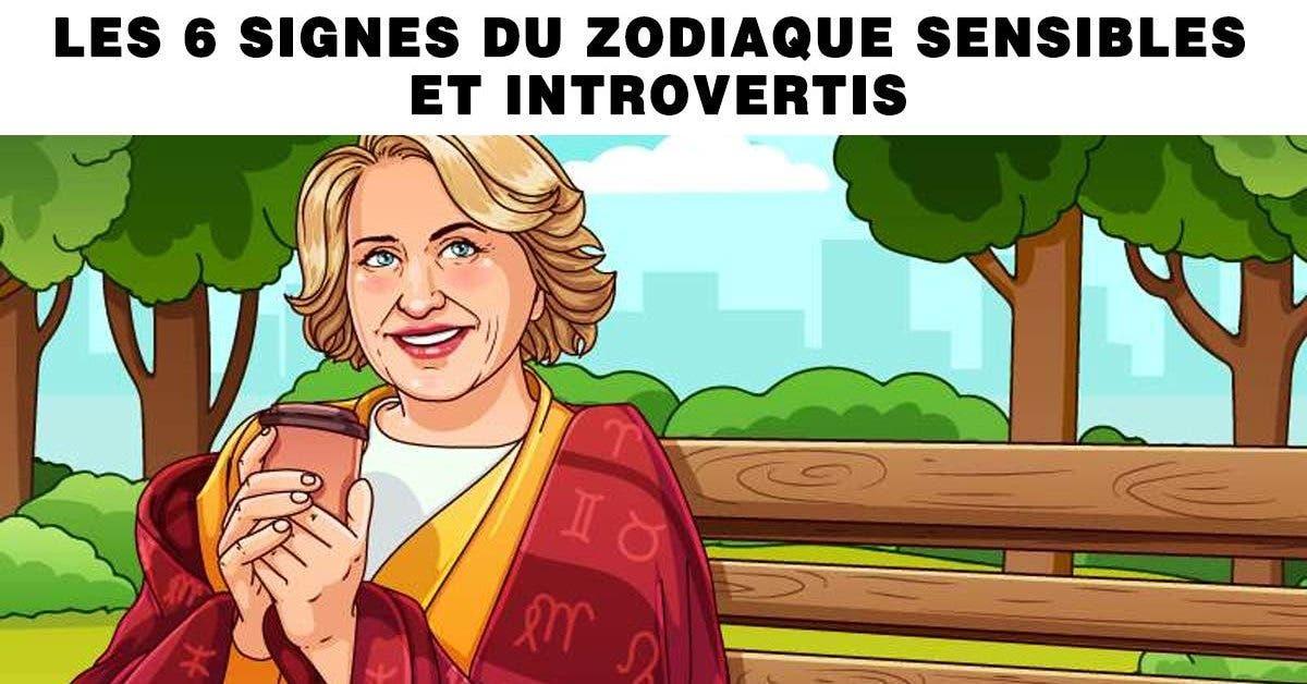 signes du zodiaque sensibles et introverti