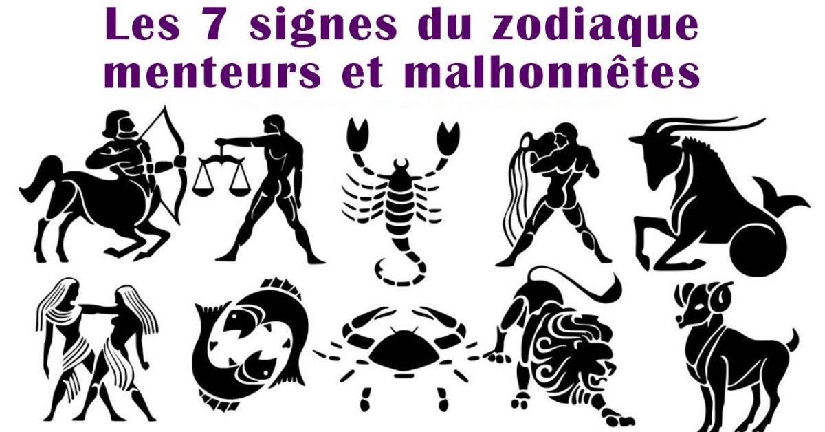 Les 7 signes du zodiaque menteurs et malhonnêtes