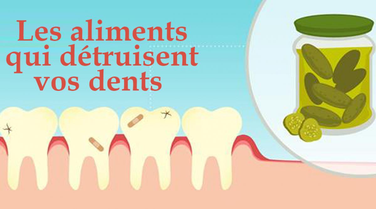 Les aliments qui détruisent vos dents