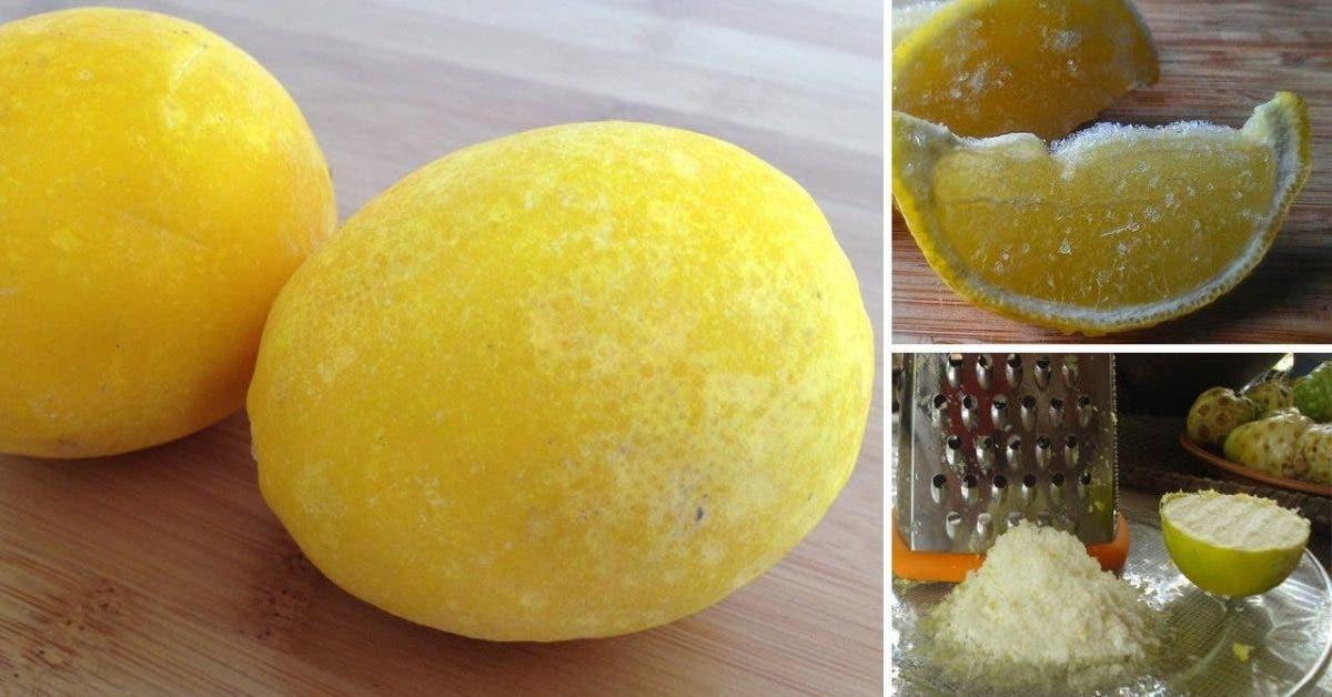 Les citrons congelés peuvent tout guérir