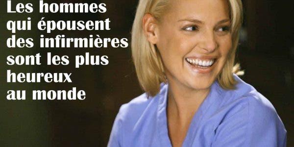 Les hommes qui epousent des infirmieres sont les plus heureux au monde