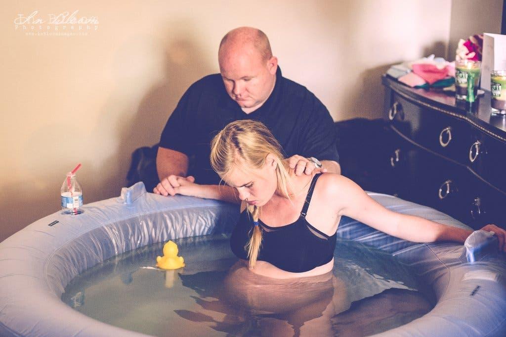 Les photos des naissances dans l'eau
