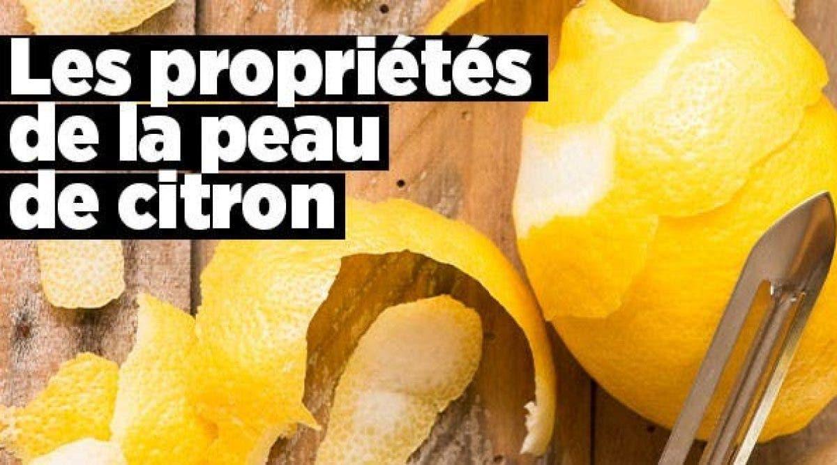 Les propriétés de la peau de citron