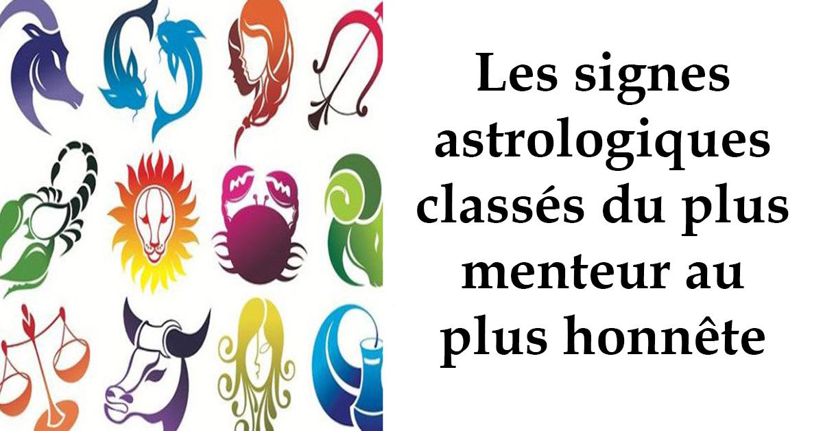 Les signes astrologiques classés du plus menteur au plus honnête
