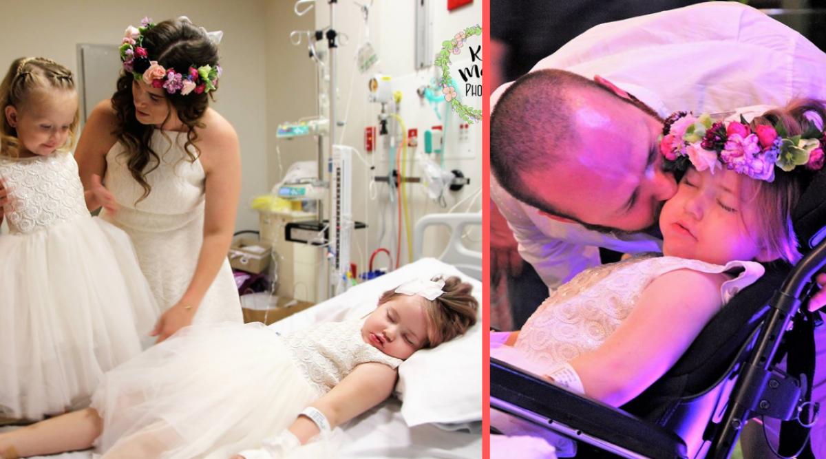Leur fille était en train de mourir d'une tumeur au cerveau, les parents organisent alors leur mariage à l'hôpital pour qu'elle puisse être demoiselle d'honneur