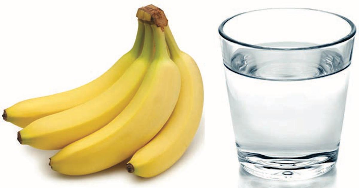 Mangez une banane et buvez un verre d'eau tiède le matin et regardez ce qui arrive à votre corps