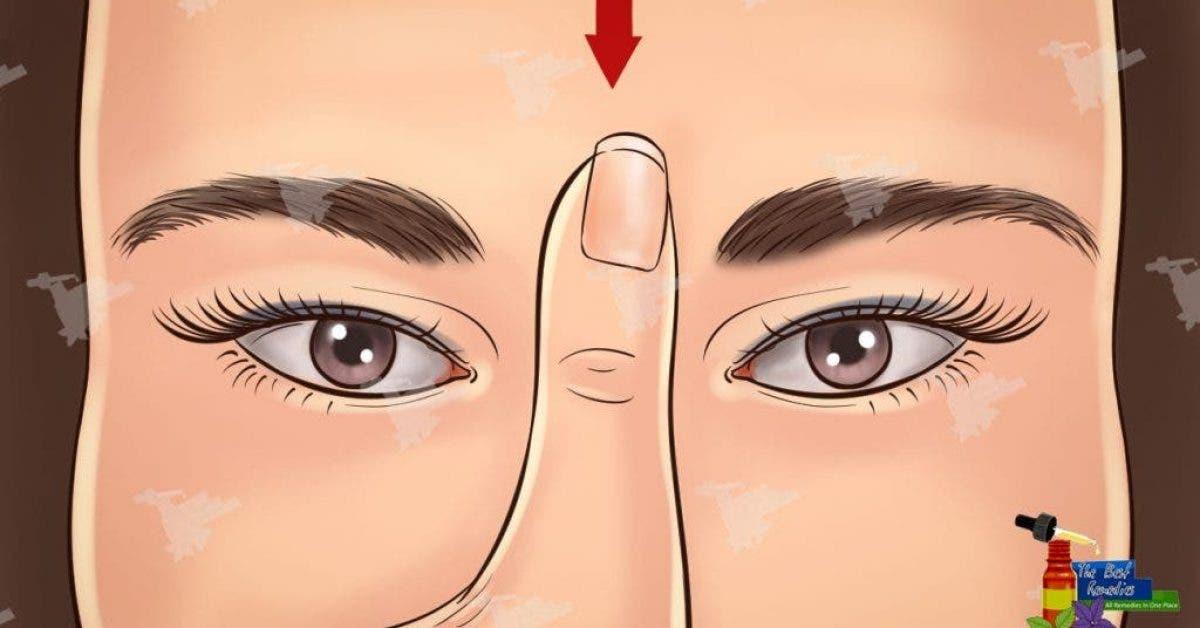 Massez ce point entre vos sourcils
