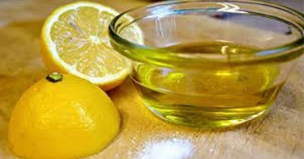 Melangez du citron et de lhuile dolive et consommez en. Vous utiliserez ce melange toute votre vie 1