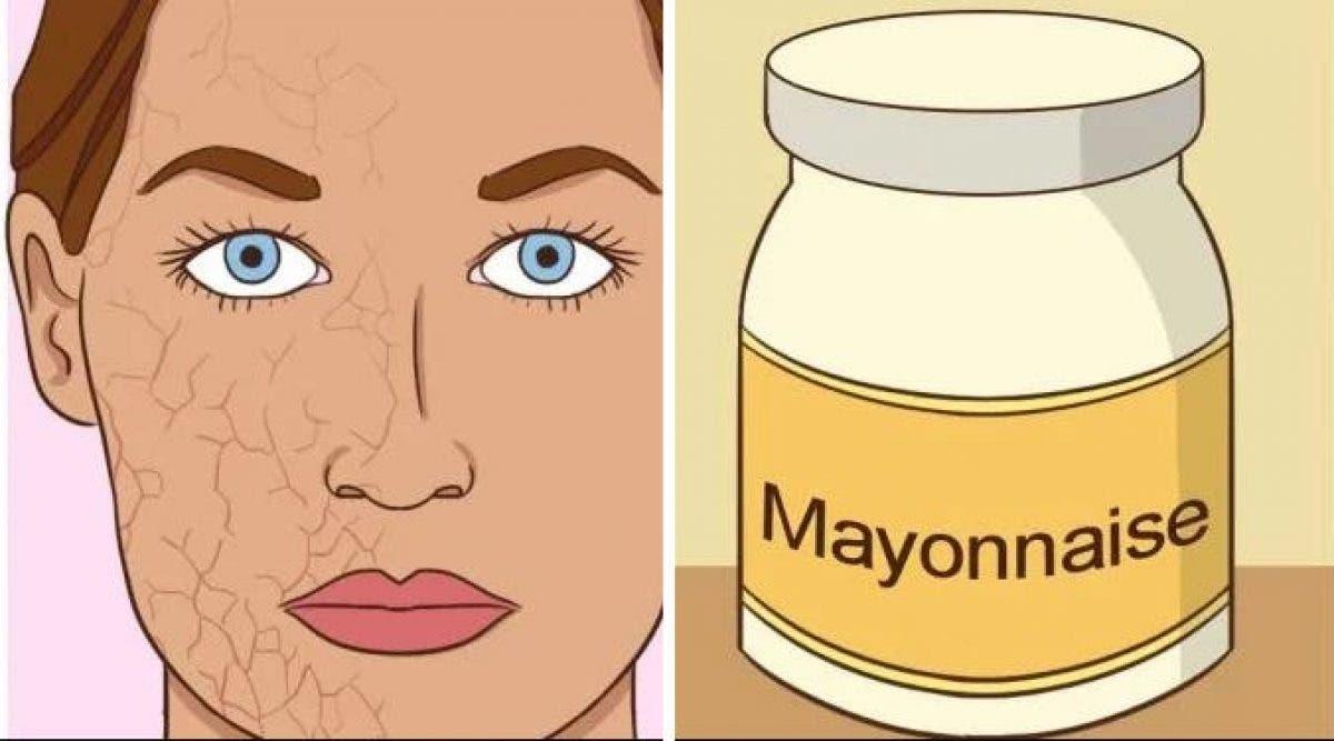 Mettez une cuillère à café de mayonnaise sur votre peau. Vous serez impressionné par le résultat
