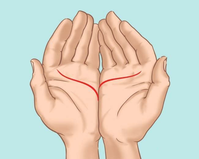 Mettez vos mains côte à côte et faites attention à ce petit détail