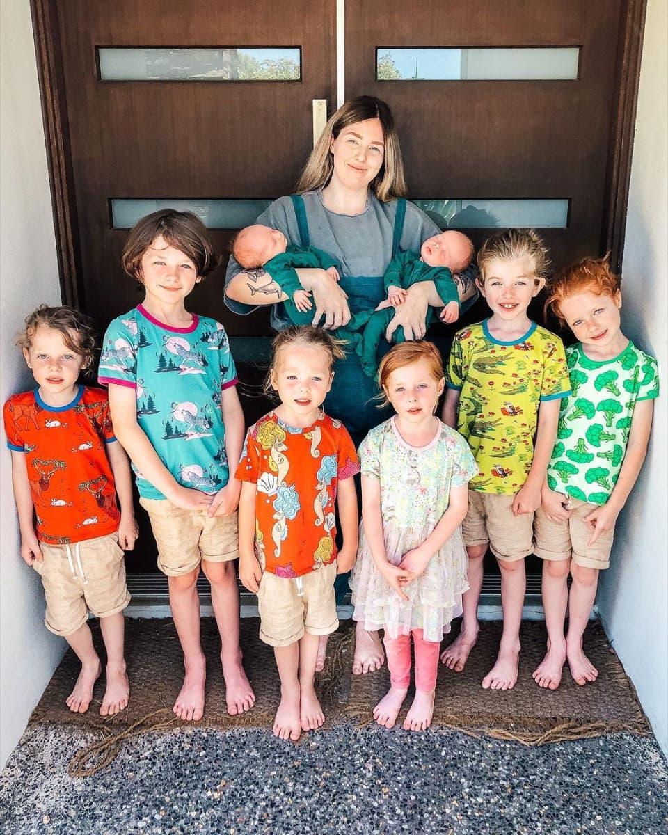 La famille nombreuse de Chloé.