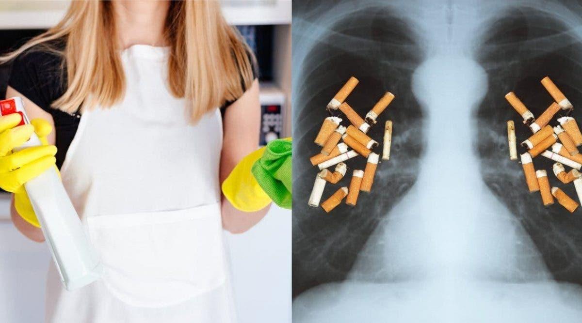 Nettoyer votre maison peut être aussi mauvais que de fumer 20 cigarettes par jour