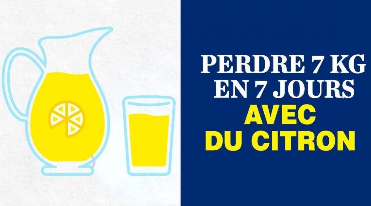 Voici le célèbre programme citron pour perdre 7 Kg en 7 jours