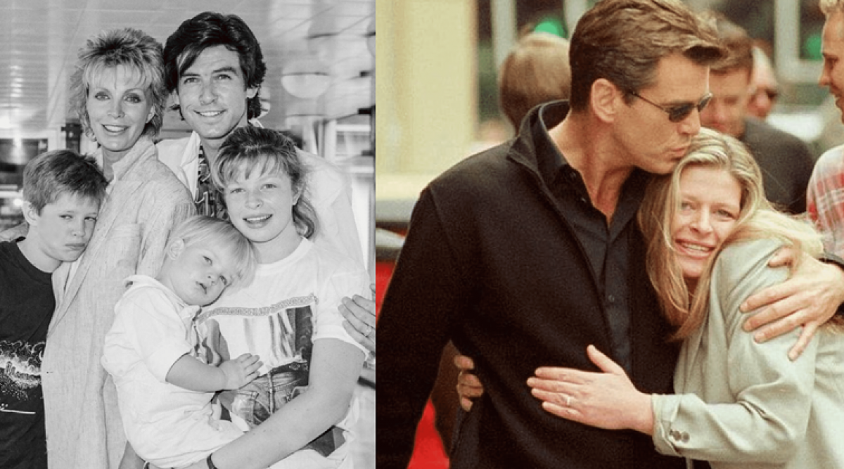 Pierce Brosnan tient la main de sa fille